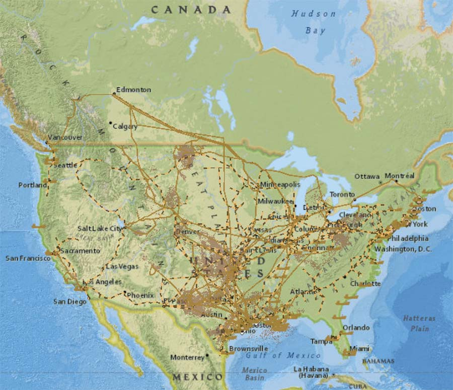 United States Crude Oil Market Map